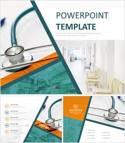 Free Template Design - hospital Facilities_6 slides