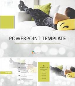 Free Template Design - rest on the Sofa_6 slides