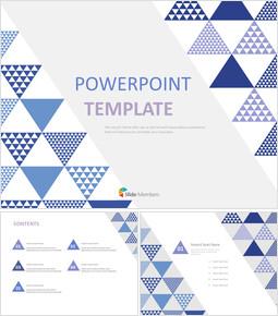 회색과 파란색 삼각형 - 무료 PowerPoint 템플릿 디자인_00