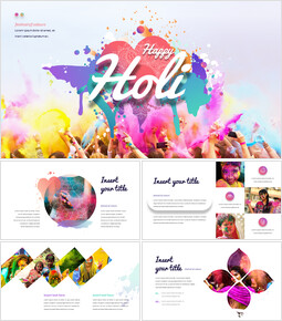 Happy Holi Google Slides Template Design_00