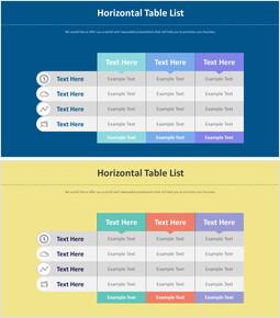Horizontal Table List Diagram_2 slides
