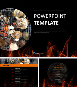 hot Roasted Clam - Free Powerpoint Template_6 slides
