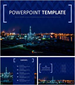 산업 도시 - 무료 PowerPoint 템플릿_00
