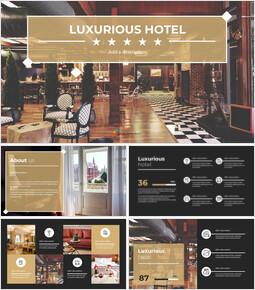 고급스러운 호텔 심플한 Google 슬라이드 템플릿_00