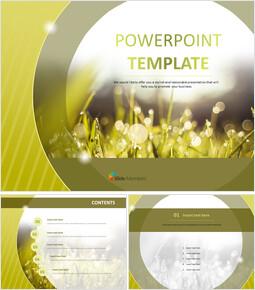 아침 이슬 - 무료 PowerPoint 템플릿_00