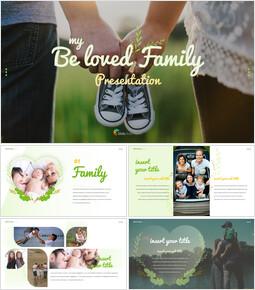 사랑하는 가족 테마 프레젠테이션용 PowerPoint 템플릿_00