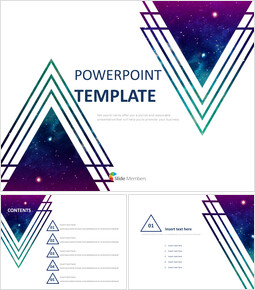 Purple Cosmic Triangle - Free Powerpoint Sample_00