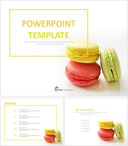 빨강, 노랑, 초록 마카롱 - 무료 파워포인트 샘플_00