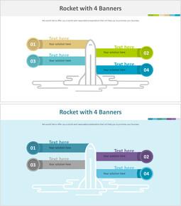 4 개의 배너가있는 로켓 다이어그램_00