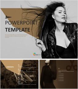 실키 헤어 - 무료 PowerPoint 템플릿_00