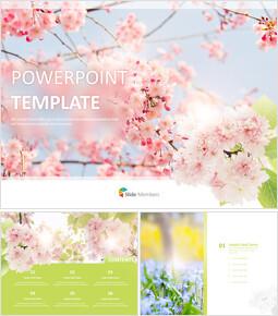 봄 꽃 - 무료 디자인 템플릿_00