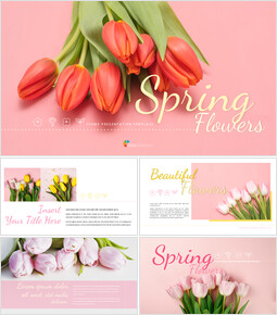 Spring Flowers Google Slides Templates_00