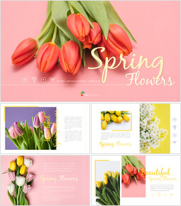 Spring Flowers Presentation PowerPoint Templates Design_00