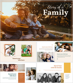 가족 이야기 프레젠테이션을 위한 구글슬라이드 템플릿_00