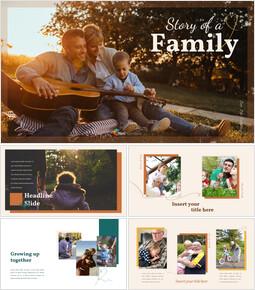 가족 이야기 PowerPoint 템플릿 디자인_00