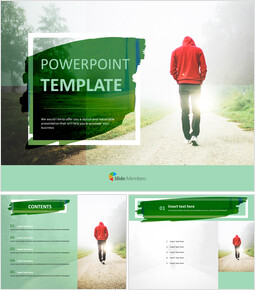 Take a Walk in the Early Morning - Free Design Template_00