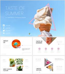여름의 맛 프레젠테이션용 Google 슬라이드_00