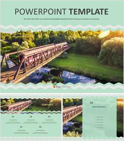 기차 여행 - 무료 PowerPoint 템플릿 디자인_00