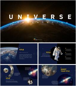 Universum Einfache Google Slides-Vorlagen_00