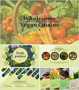 Wholesome Vegan Cuisine Simple Google Slides Templates_00