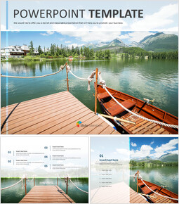 Wooden Boat on a Lake - Free Powerpoint Sample_00