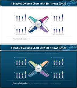 3D 화살표가있는 4 개의 누적 세로 막 대형 차트 (DNA)_00