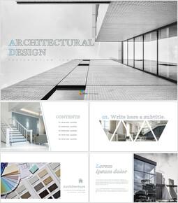 건축 설계 편집이 쉬운 프레젠테이션 템플릿_00