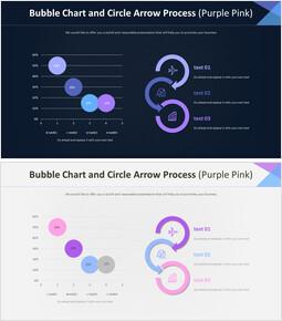 Bubble Chart and Circle Arrow Process (Purple Pink)_4 slides