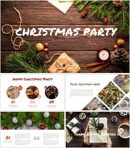 크리스마스 파티 편집이 쉬운 구글 슬라이드 템플릿_00