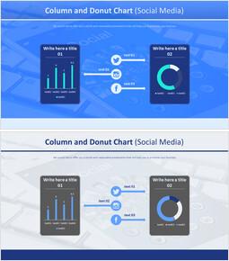 칼럼 및 도넛 형 차트 (소셜 미디어)_00