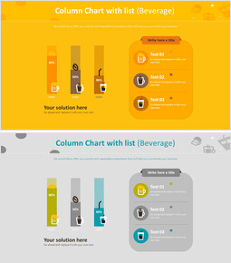 Column Chart with list (Beverage)_00