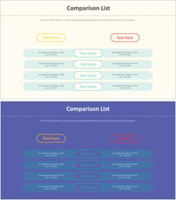Comparison List Diagram_2 slides