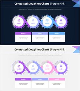 연결된 도넛 형 차트 (퍼플 핑크)_00