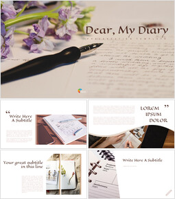 Diary Easy Google Slides Template_00