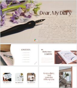 Diary Simple PowerPoint Templates_00