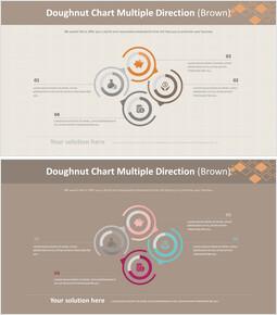 Doughnut Chart Multiple Direction (Brown)_00