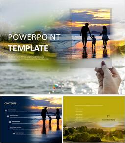 가족 여행 - 무료 PowerPoint 템플릿_00