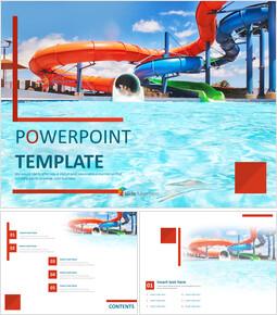 무료 PowerPoint 템플릿 - 여름 워터 파크_00