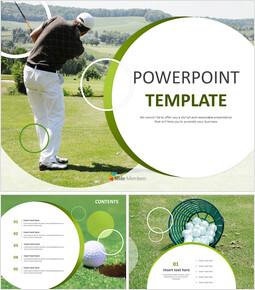무료 PowerPoint 템플릿 디자인 - 프로 골퍼_00