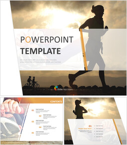 Free Template Design - Sunset and Running_00