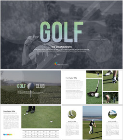 Golf The Green Groove Plantillas PPT de Google_00