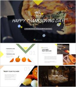 행복한 추수 감사절 편집이 쉬운 구글 슬라이드 템플릿_00
