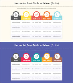 아이콘 다이어그램과 수평 기본 테이블 (과일)_00