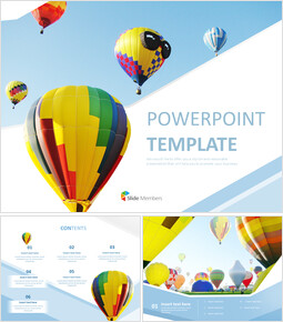 Hot-Air Balloon in the Sky - Free Powerpoint Template_00