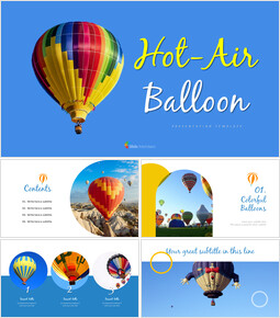 Hot air balloon Simple Templates Design_9 slides