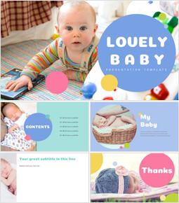 사랑스러운 아기 심플한 Google 슬라이드 템플릿_00