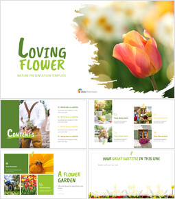 Loving Flower - Easy Slides Design_11 slides