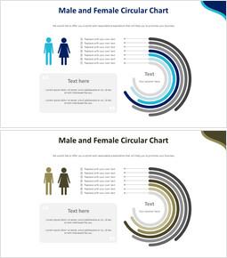 남성 및 여성 원형 차트 다이어그램_00