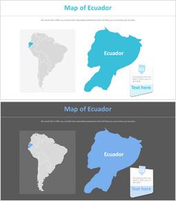 에콰도르의 지도 다이어그램_2 slides