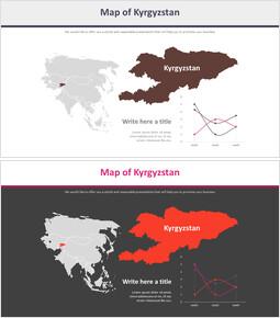 키르기스스탄 지도 다이어그램_2 slides
